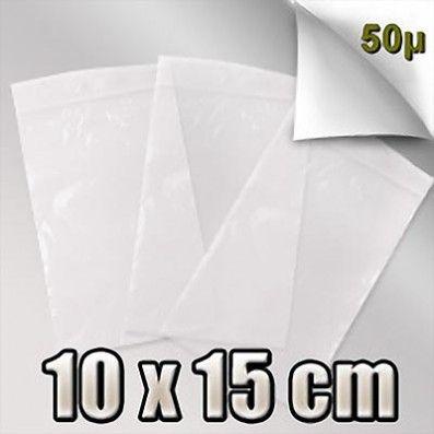 SACHET ZIP 50 MICRONS 10x15 CM