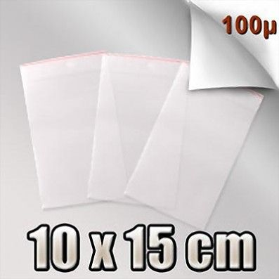 SACHET ZIP 100 MICRONS 10x15 CM