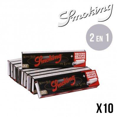 SMOKING DELUXE SLIM + TIPS X10