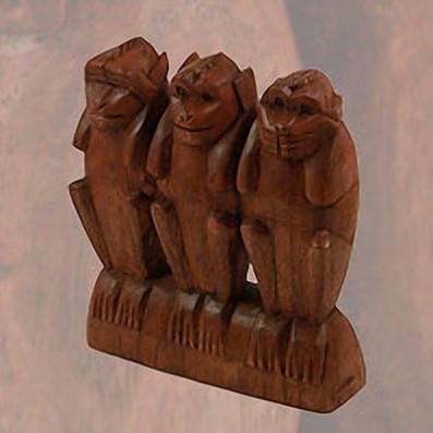 statuette les 3 singes de la sagesse acheter decoration. Black Bedroom Furniture Sets. Home Design Ideas