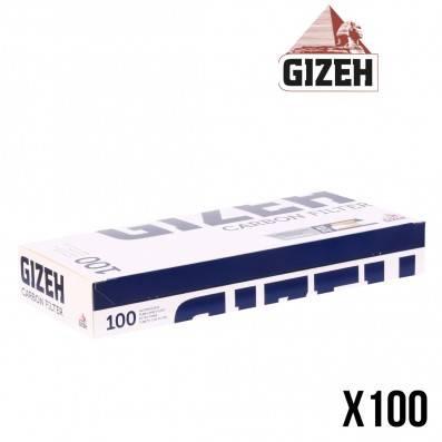 TUBE A CIGARETTE GIZEH CHARBON 100