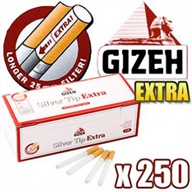 TUBE A CIGARETTE GIZEH SILVER TIP EXTRA
