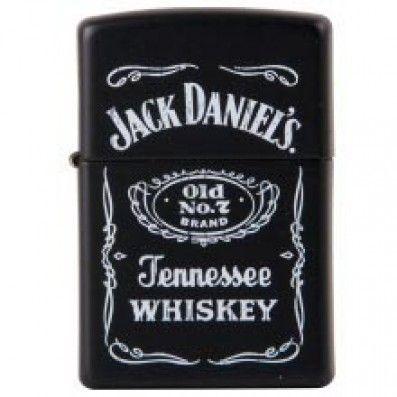 BRIQUET ZIPPO JACK DANIELS OLD N°7 BLACK