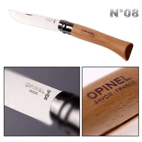 achat opinel no8 vente en ligne de couteau opinel couteau opinel. Black Bedroom Furniture Sets. Home Design Ideas