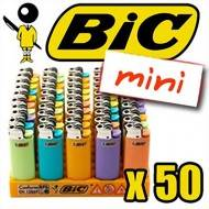 BRIQUET BIC MINI COLOR PASTEL X50