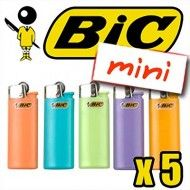 BRIQUET BIC MINI COLOR PASTEL x5