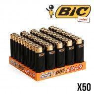 BRIQUET BIC MINI BLACK AND GOLD X50