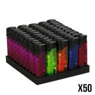 BRIQUET FLAMME ROUGE LED X50