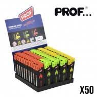 BRIQUET PROF COLORFLAME FLAMY X50