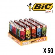 BRIQUET BIC MINI COLOR BONES X50