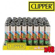 BRIQUET CLIPPER CANNABUDS PEACE X48
