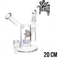 BUBBLER GLASS FOUR TWENTY SAXO PURPLE 20CM