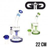 BUBBLER GRACE GLASS SAXO 22CM