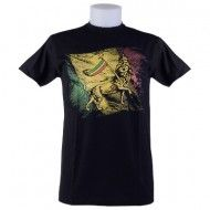 T-SHIRT RASTA RED GOLD AND GREEN