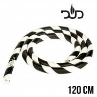 TUYAU EN SILICONE DUD BLACK - WHITE 120CM