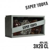 VODKA SAPER VODKA GRENADES COFFRET 3x20CL