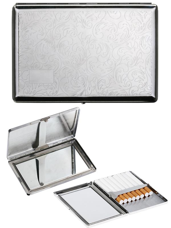 etui plat a cigarette miroir