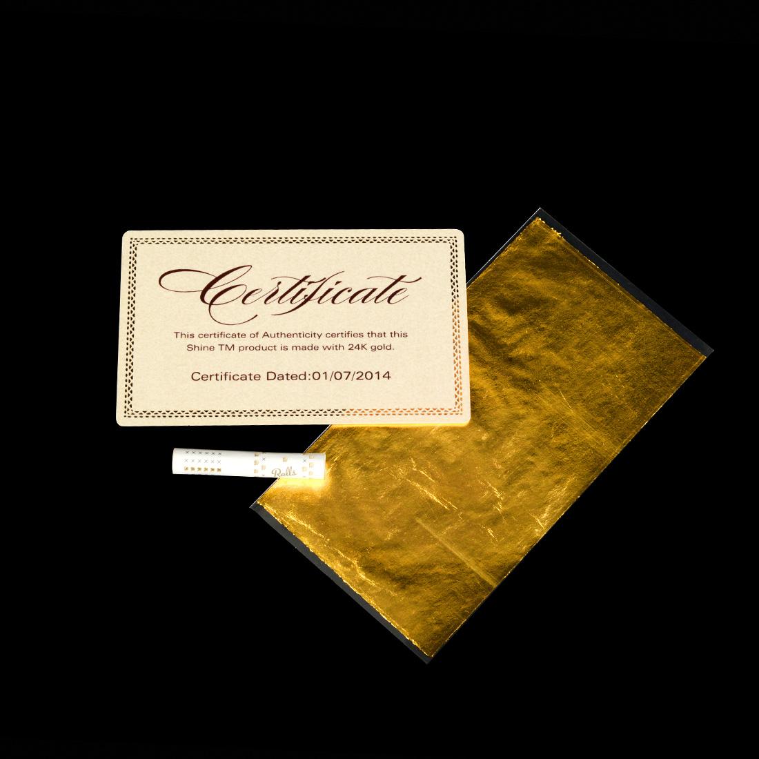 feuille king size en or