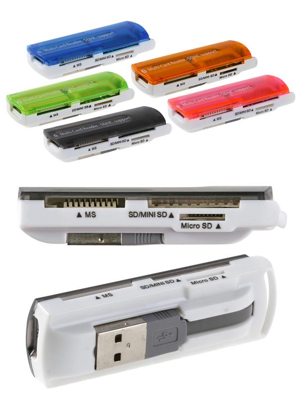 lecteur de cartes USB SD, mini SD, micro SD, M2, Ms card