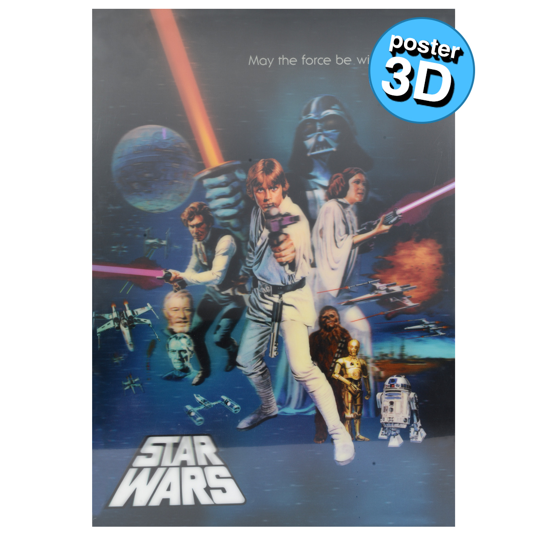 POSTER 3D STAR WARS