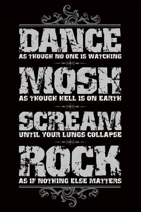 Dance most scream rock