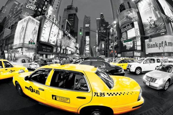 poster taxi new york