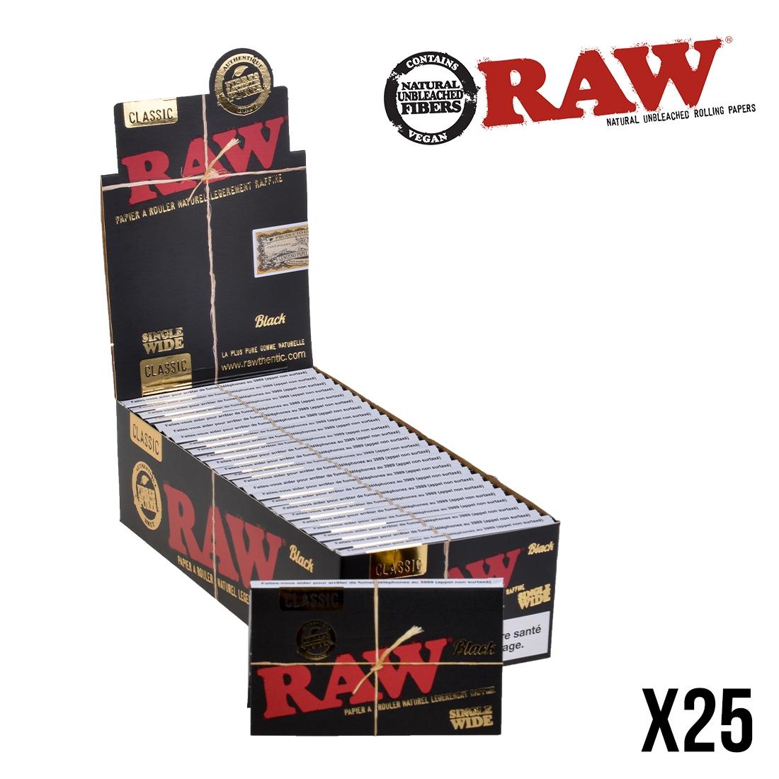 papier à rouler raw regular x25