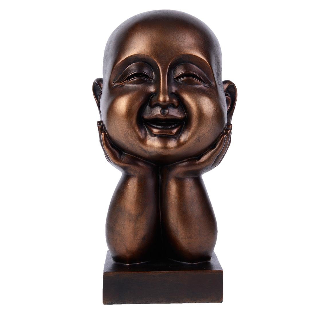 statue moine rieur