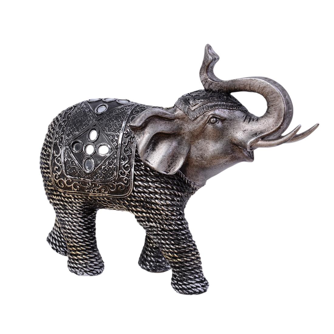 statuette elephant miroir