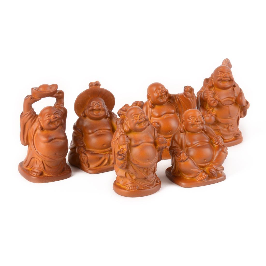 statuettes bouddha rieur lot de 6 statuettes d co petit prix planete. Black Bedroom Furniture Sets. Home Design Ideas