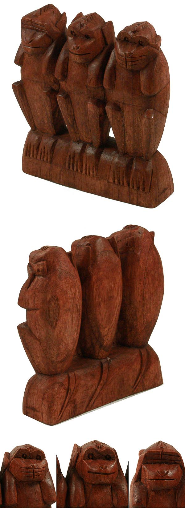 statuette les 3 singes de la sagesse acheter decoration. Black Bedroom Furniture Sets. Home Design Ideas