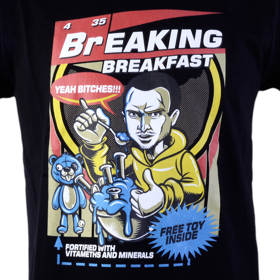 t-shirt breaking breakfast
