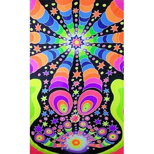 tenture fluo psychedelic