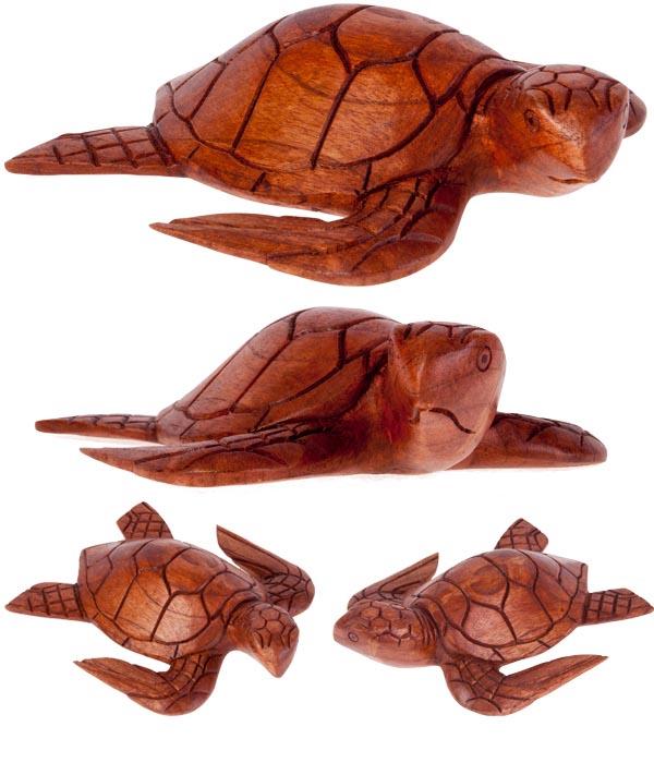 tortue en bois