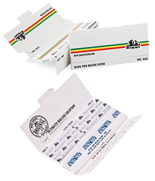 boite de papier a rouler ziggi blanc