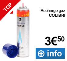 recharge de gaz Colibri