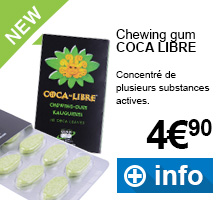 Achat de chewing gum coca libre aux substances actives