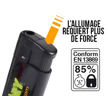 le système de sécurité enfant pour les briquets électronique